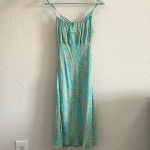 Vintage Paisley Slip-Style Dress